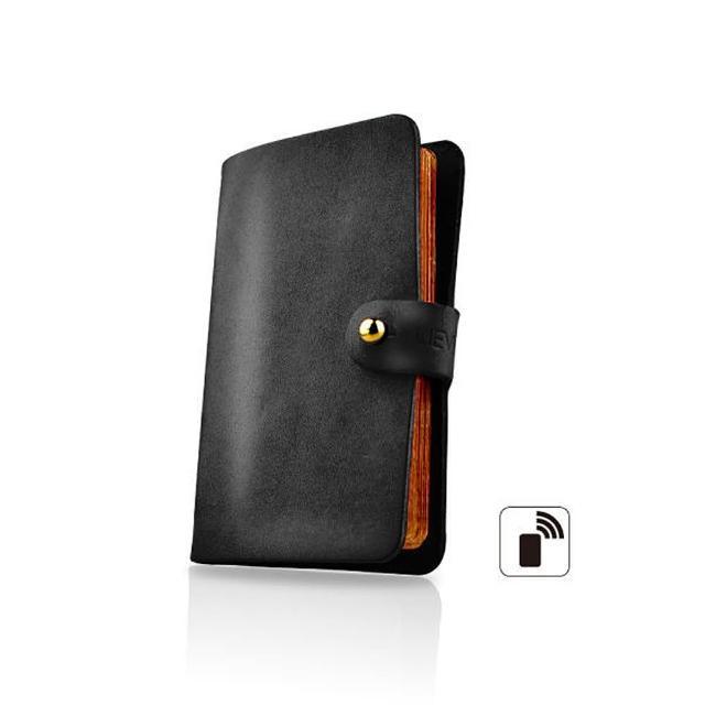【LIEVO】EASY真皮感應卡片夾(ES01-CB經典黑)