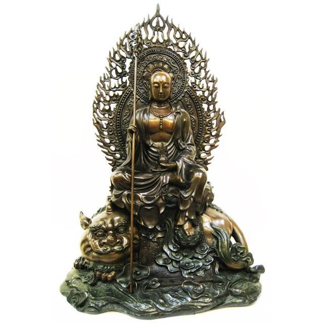 【開運陶源】地藏王菩薩 銅雕 坐騎-諦聽
