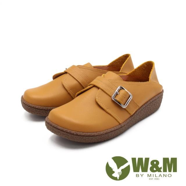 【W&M】女 大圓頭日系踩腳式休閒 女鞋(萊姆黃)