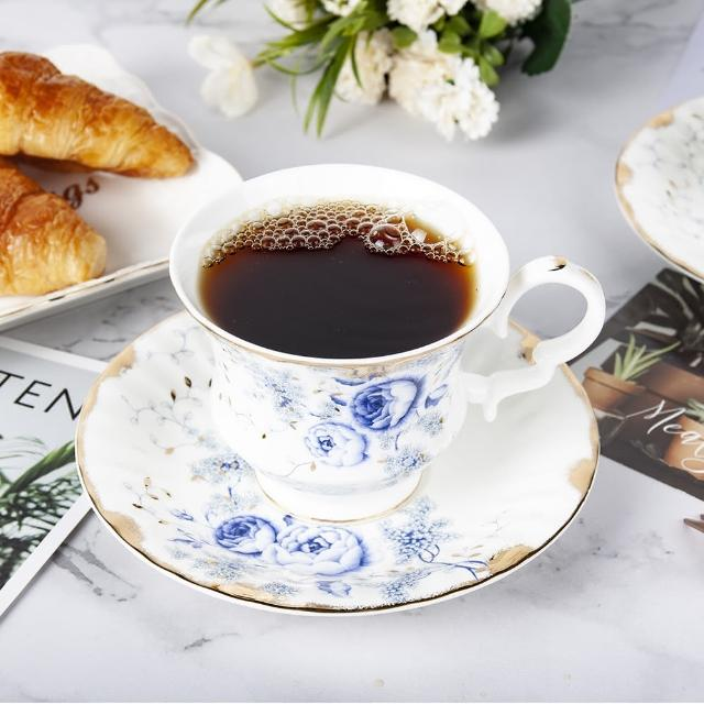 【Royal Duke】骨瓷咖啡杯組-藍玫瑰(兩杯兩碟咖啡杯組)