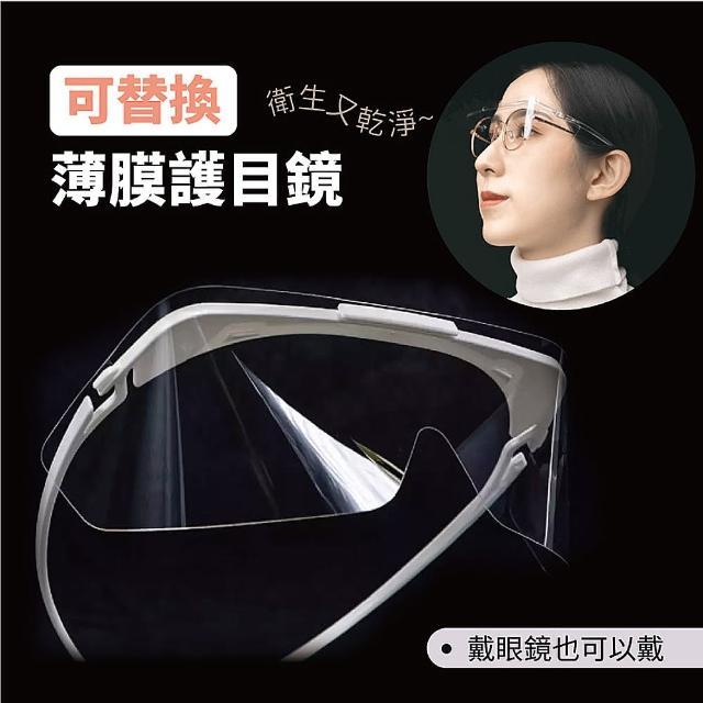 【台灣製】可替換薄膜護目鏡-兩入 台灣製 MIT/防疫/防塵/防風/ 工業護目鏡眼鏡(#BRANDON)