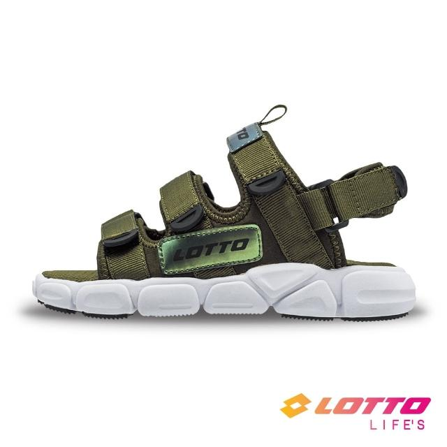 【LOTTO】童鞋 時尚織帶涼鞋(綠-LT1AKS3315)