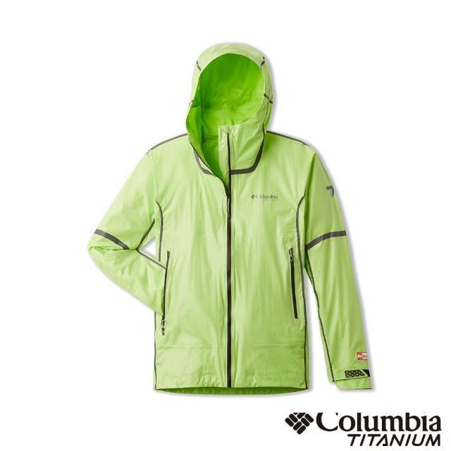 【Columbia 哥倫比亞】男款-鈦 Outdry防水外套-螢光綠(UWE13320FG / 防水.運動.機能)