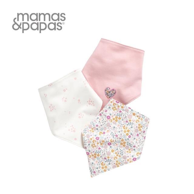 【Mamas & Papas】花季飄飄-單面領巾/口水巾(3件組)