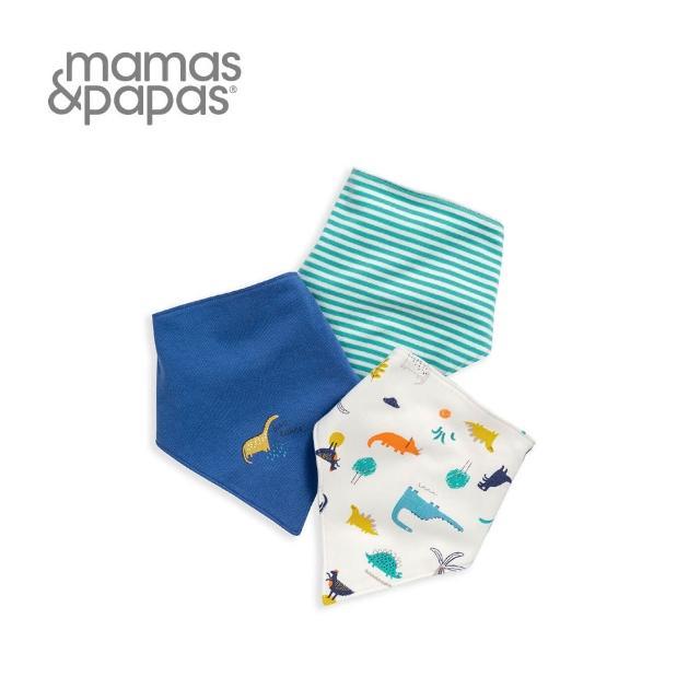 【Mamas & Papas】恐龍快遞-單面領巾/口水巾(3件組)