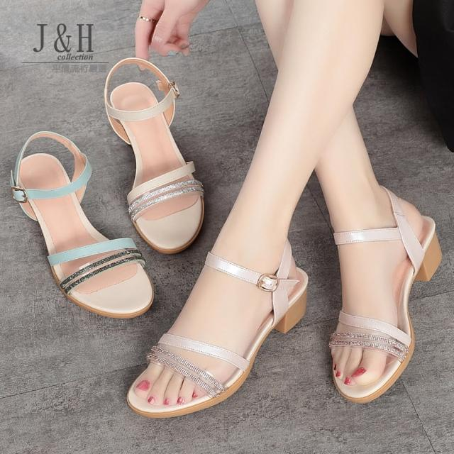 【J&H collection】夏季仙女風韓版軟底涼鞋(現+預 藍色 / 米色 / 粉色)