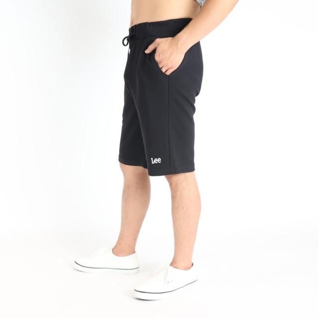 【Lee】薄款舒適 男運動針織休閒短褲-沉穩黑