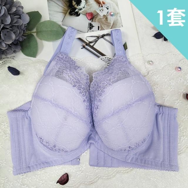 【魔莉莎】台灣製戀語藤花深V大罩杯防副乳機能內衣成套組(W19)