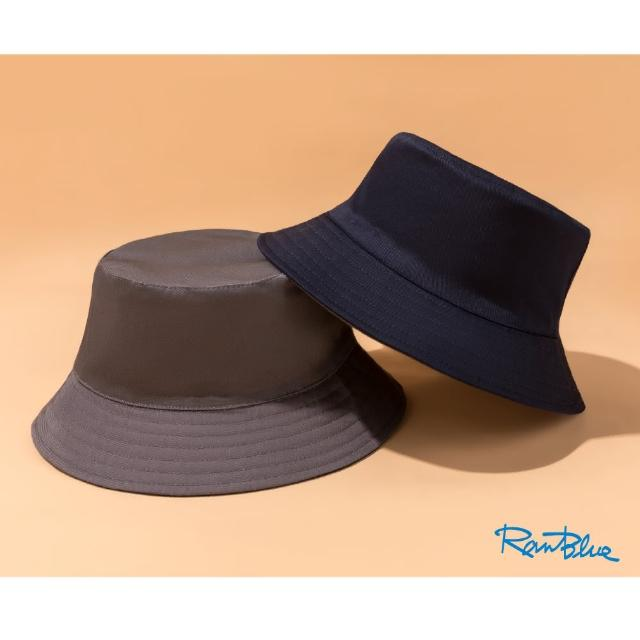【Ranblue】韓版簡約 雙面漁夫帽 防曬遮陽帽(藏藍/鐵灰)