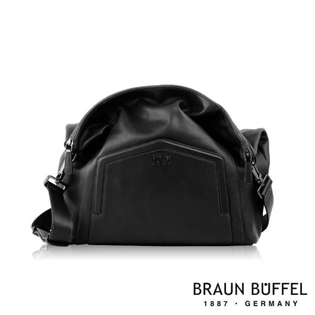 【BRAUN BUFFEL 德國小金牛】台灣總代理 奧菲莉亞-A 斜背包-黑色(BF675-52-BK)