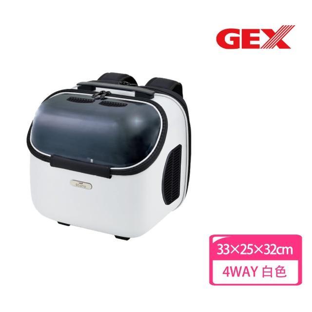【GEX】旅行者太空艙包 Jr.白色(寵物背包 後背 前背 手提 透明窗)