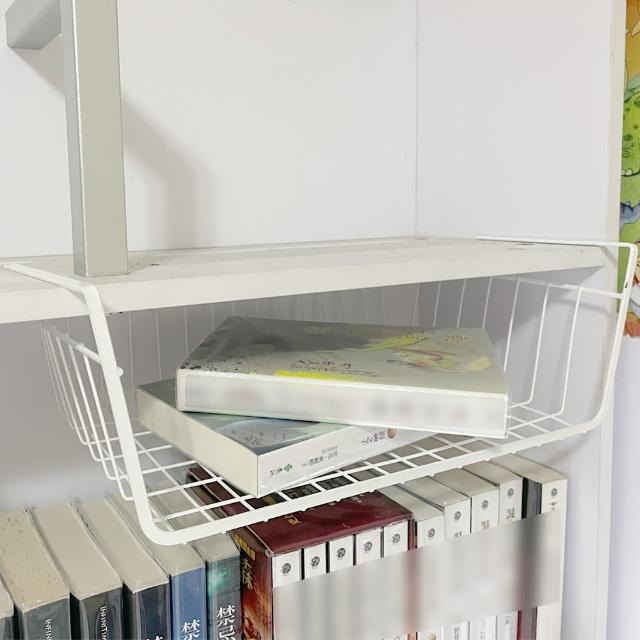 多功能櫥櫃吊掛收納籃 置物籃(層板掛架 雜物籃)
