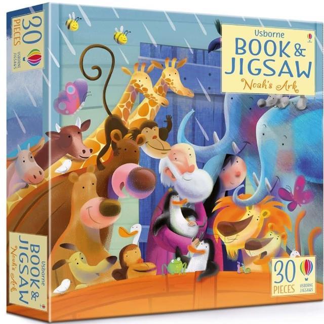 【Song Baby】Book And Jigsaw:Noah's Ark 諾亞方舟拼圖遊戲盒(拼圖遊戲)
