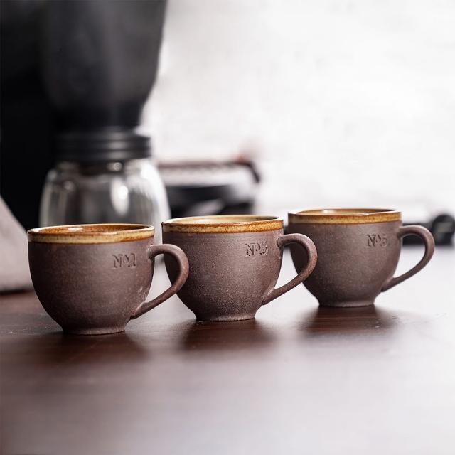 【陶作坊】Aurli 老岩泥 隨心杯 火/焱/焱炎體驗組 一三五次燒 咖啡杯(數字版/國字版)