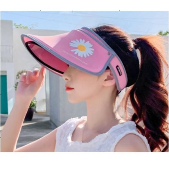 【義大利C&C】美麗雙效防曬防護遮陽帽組(遮陽帽*1+面罩*10送消毒筆*5)