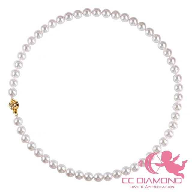 【CC Diamond】日本進口 入門款AKOYA海水項鏈(義大利進口14K金配件)