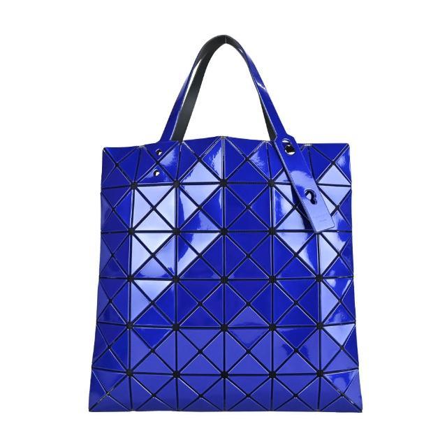 【ISSEY MIYAKE 三宅一生】BAOBAO幾何亮面 6x6手提包(寶藍)