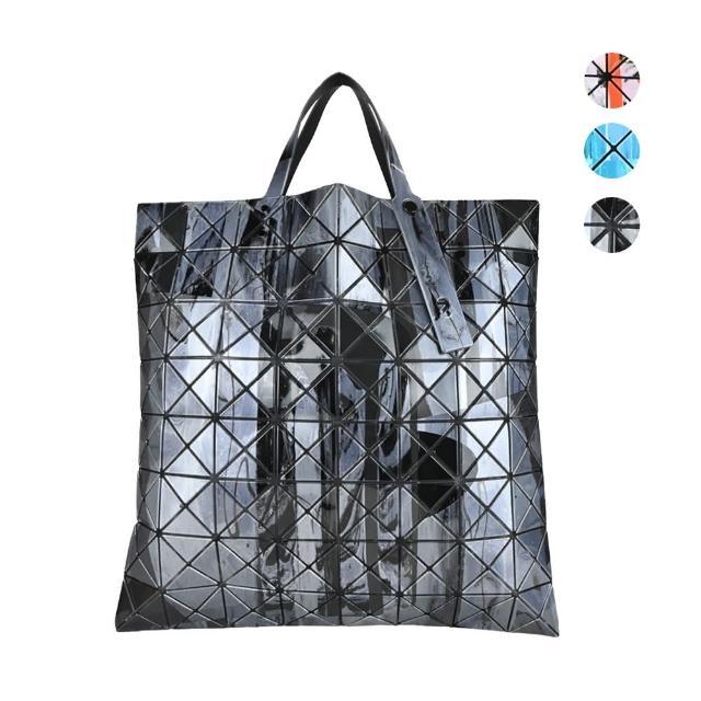 【ISSEY MIYAKE 三宅一生】BAOBAO 幾何方格8x8 潑墨手提包(任選)