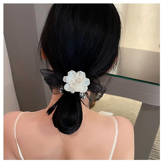 【HaNA 梨花】韓國聽見愛情花開的聲音.網紗花朵髮圈