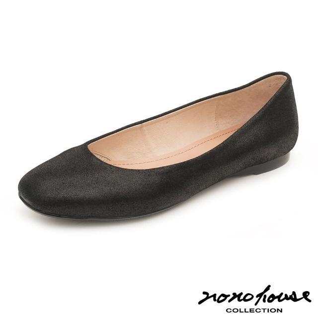 【nono house】MIT綿羊皮簡約知性平底鞋(黑)