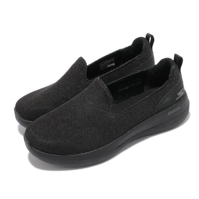 【SKECHERS】休閒鞋 Go Walk Stability 女鞋 寬楦 健走 避震 緩衝 回彈 耐磨 黑 灰(124600WBBK)