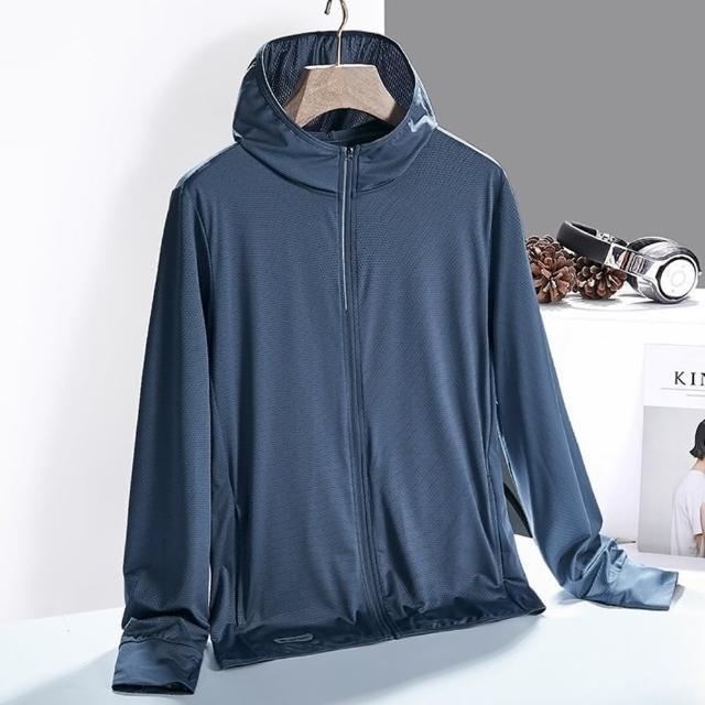 【米蘭精品】防曬外套連帽夾克(UPF50+輕薄涼感彈力男女防曬衫74ak13)