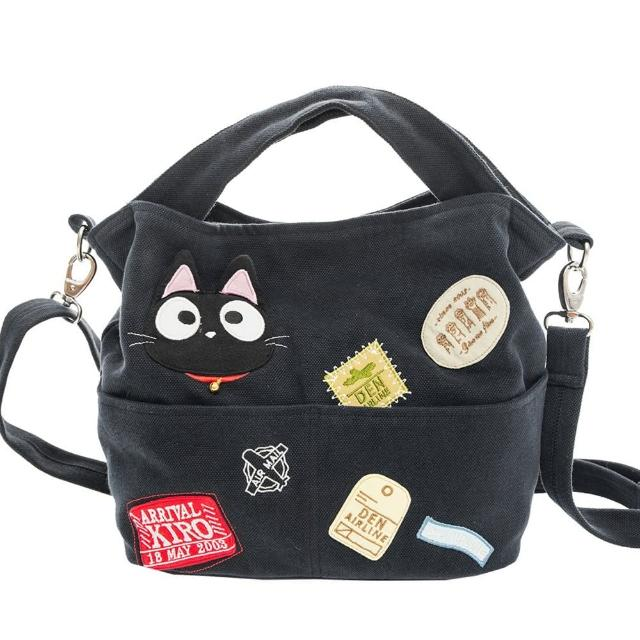 【KIRO 貓】小黑貓 休閒 外出 手提/斜背/兩用包(810109)