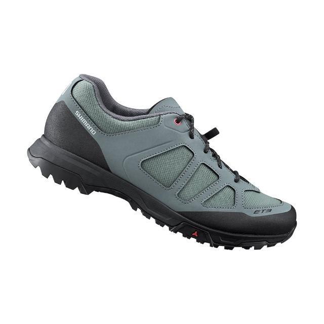 【SHIMANO】ET300 女款休閒平底車鞋 加大旅行鞋楦 綠色