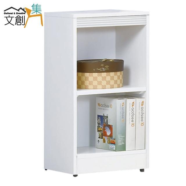 【文創集】強森 時尚1.3尺開放式二格書櫃/收納櫃(二色可選)