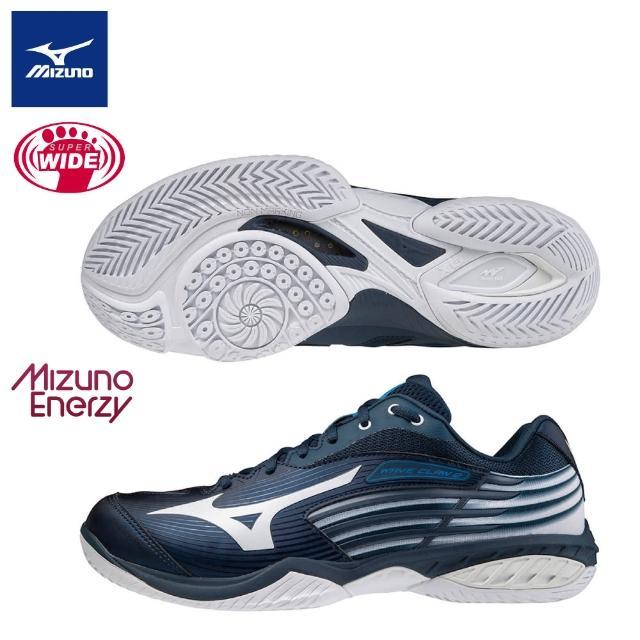 【MIZUNO 美津濃】WAVE CLAW 2 一般型超寬楦羽球鞋 ENERZY中底材質 71GA211301(羽球鞋)
