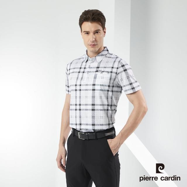 【pierre cardin 皮爾卡登】男裝 印格短袖POLO衫-灰色(5217278-95)