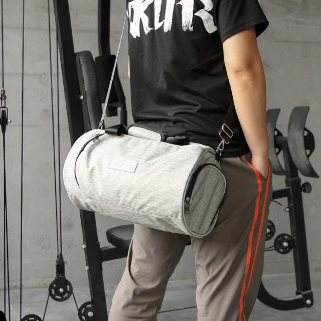 WEEKEIGHT【WEEKEIGHT】圓筒運動型多功能乾濕分離設計手提肩背運動背包/旅行袋(大型)