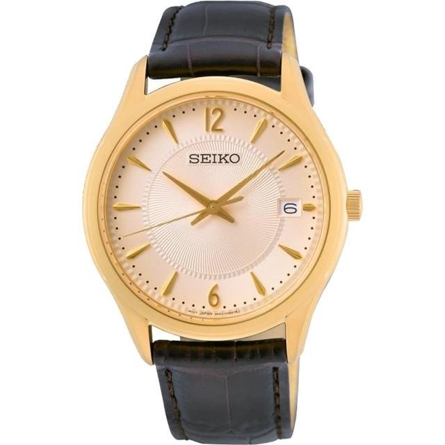 【SEIKO 精工】CS石英簡約手錶皮帶錶39.4mm(SUR472P1/6N52-00D0J)