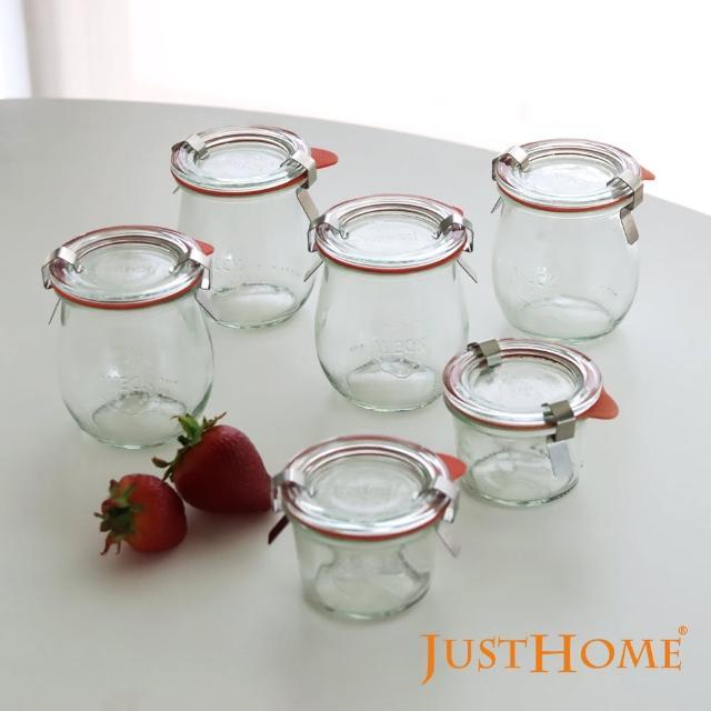 【Just Home】Just Home德國Weck玻璃罐附蓋6件組:布丁達人附密封配件(玻璃罐、密封罐)