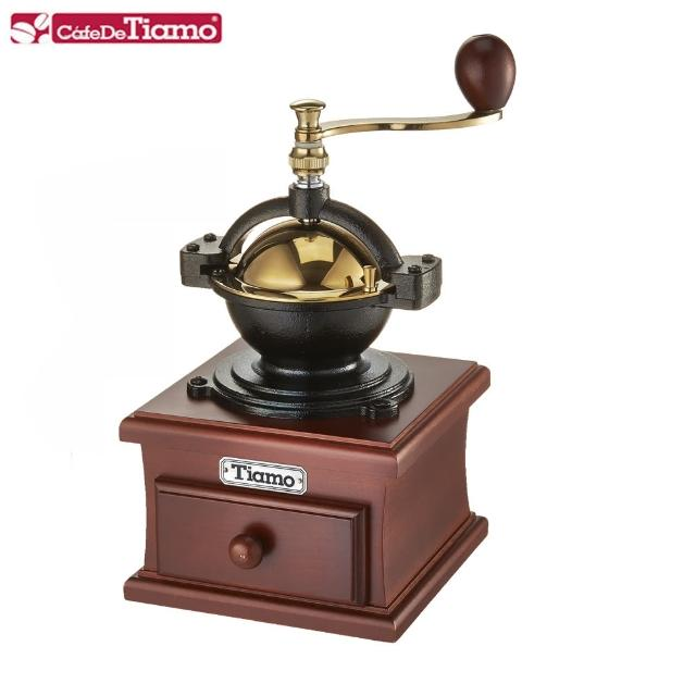 【Tiamo】1309 鑄鐵型手搖磨豆機鈦金款-桃紅色(HG6146PH)