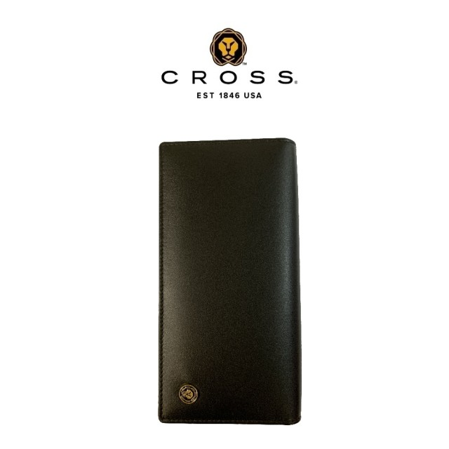 【CROSS】限量1折 頂級NAPPA小牛皮22卡1零錢袋長夾 洛非諾系列系列 全新專櫃展示品(黑色)