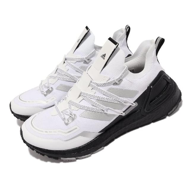 【adidas 愛迪達】慢跑鞋 UltraBOOST 20 Lab 男鞋 海外限定 愛迪達 反光 路跑 運動 白 黑(H03052)