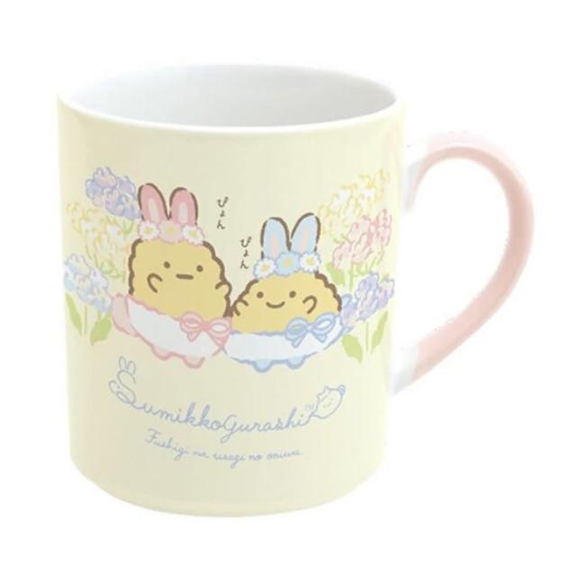 【小禮堂】角落生物 日製 陶瓷馬克杯 咖啡杯 茶杯 陶瓷杯 《黃 復活節》