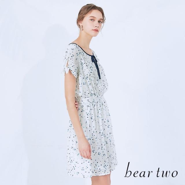 【bear two】仿兩件愛心雪紡短洋裝(兩色)