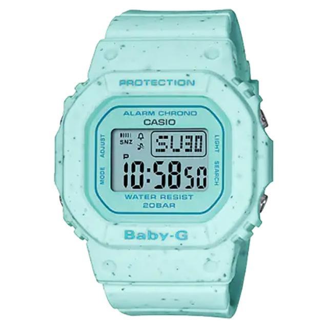 【CASIO 卡西歐】Baby-G 好想咬一口 冰淇淋 計時電子錶-薄荷(BGD-560CR-2)