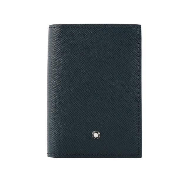 【MONTBLANC 萬寶龍】匠心系列商務對開名片/卡片夾(藍色)