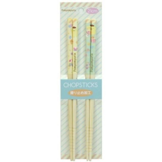 【小禮堂】布丁狗 天然竹筷組 木筷 成人筷 環保筷 21cm 《2入 黃 汽球》