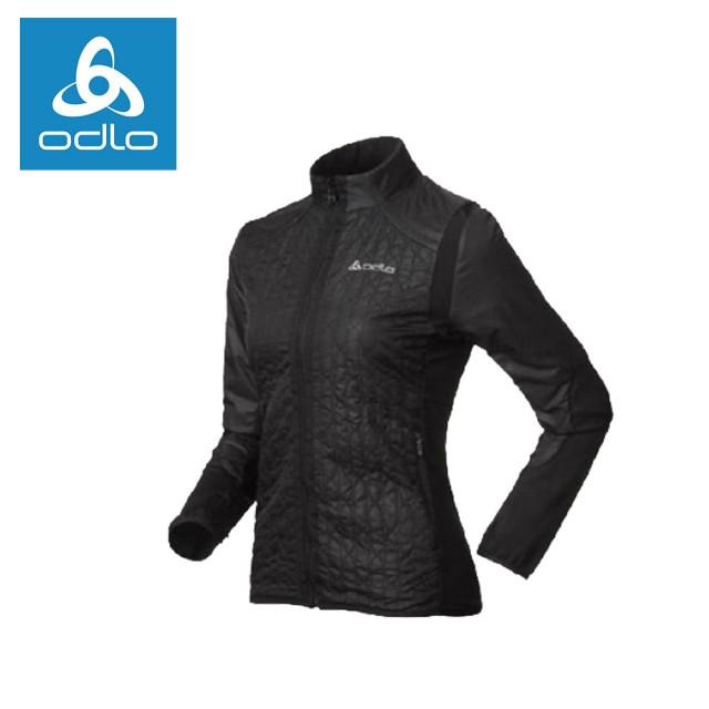 【ODLO】女PRIMALOFT彈性保暖外套522475-黑15001