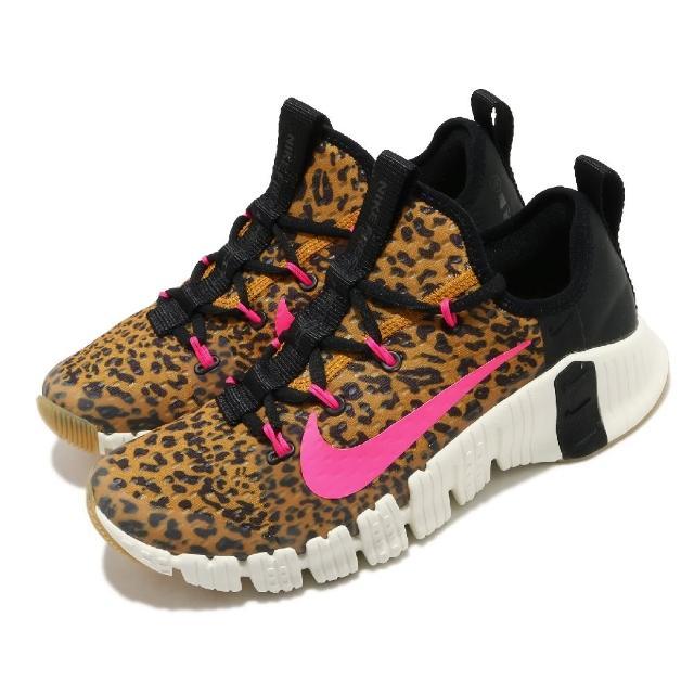 【NIKE 耐吉】訓練鞋 Free Metcon 3 運動 女鞋 襪套 包覆 支撐 穩定 健身房 球鞋 卡其 黑(CJ6314-096)