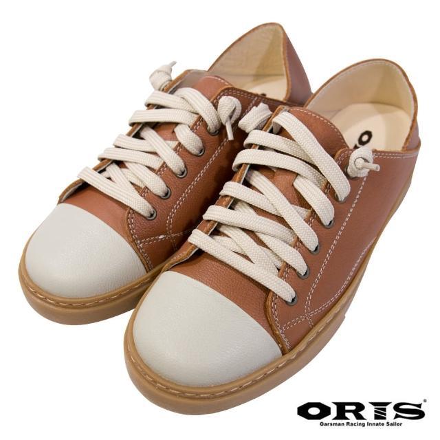 【oris 帆船鞋】復古兩穿懶人休閒鞋-棕-S0725N08(真皮/手工/休閒鞋/懶人鞋)