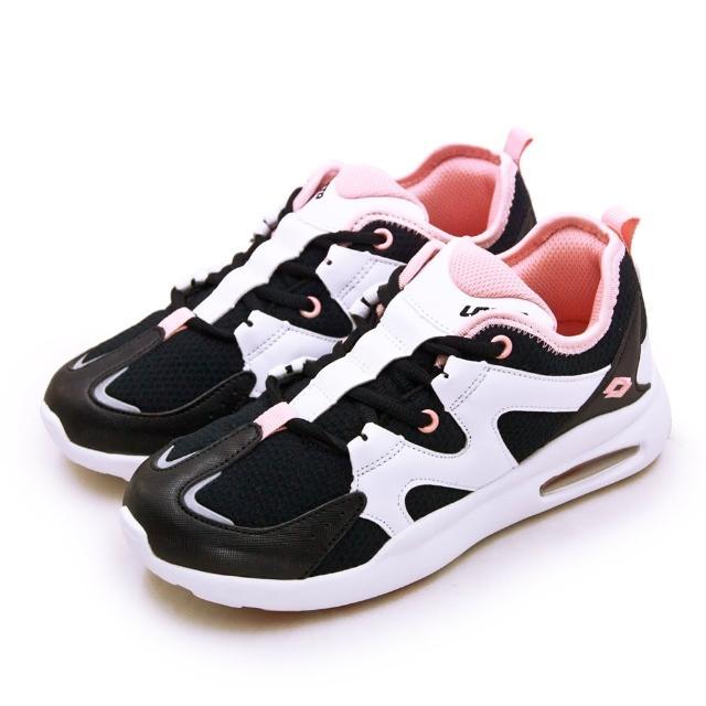 【LOTTO】女 專業避震輕氣墊慢跑鞋 AbiLe系列(白黑粉 2368)