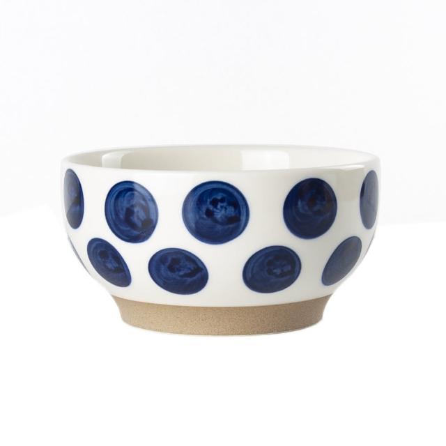 【Royal Duke】復古手繪藍彩系列-6吋碗-圓點(復古 彩繪 圓點 陶瓷 小碗 飯碗)