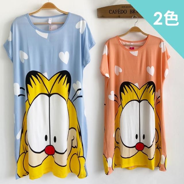 【Wonderland】睡衣 卡通短毛貓牛奶絲睡裙