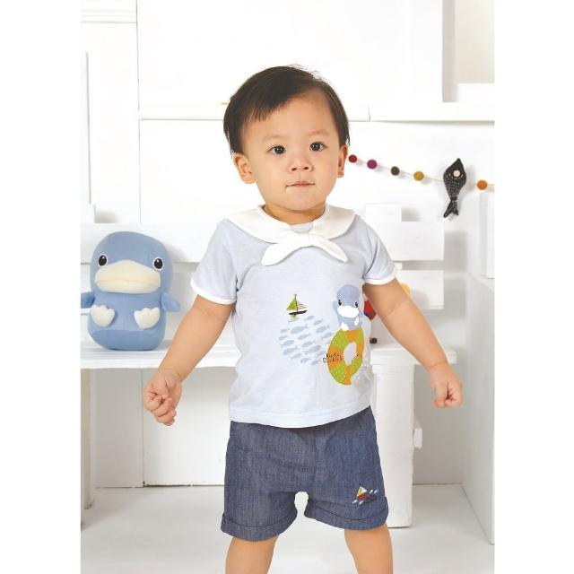 【KU.KU. 酷咕鴨】夏日出帆海洋套裝-藍(80/90/100cm)