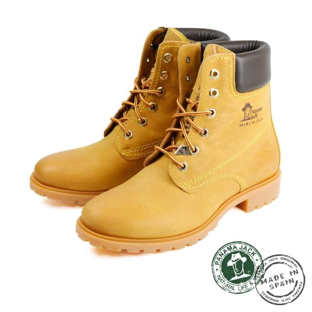 【Panama Jack】經典百搭刷色厚底中筒靴 芥末黃(P0403W-TAN)